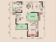 天麟时代经典5-3/2户型2室2厅2卫2阳台98.43㎡