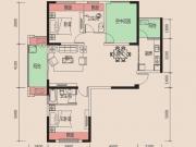天麟时代经典5-1/4户型2室2厅2卫2阳台114.81㎡