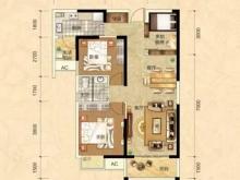阳光栖谷C户型3室2厅1卫2阳台 95.97㎡
