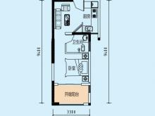 公元海5-1-3户型1室1厅1卫1阳台 40.73㎡