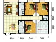南北世纪城A1户型4室2厅2卫133.61㎡