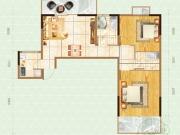 嘉和新世界1-5户型2室2厅2卫1阳台95㎡