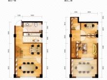 泰山绿谷B户型3室1厅2卫 57.02㎡
