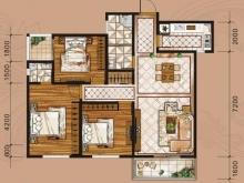 金港旺座B户型3室2厅2卫2阳台 130.29㎡