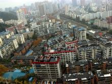 唐城中岳汇三堰片区的俯瞰图