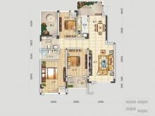 四方新城·匠园C户型3室2厅2卫2阳台 145.62㎡