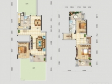 四方新城·匠园B户型3室3厅2卫2阳台 152.26㎡