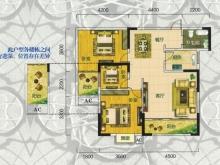 翰林世家禧园H户型3室2厅1卫2阳台 98.76㎡