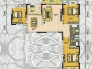 翰林世家禧园F户型3室2厅2卫2阳台126.93㎡