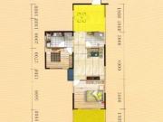 蓝宝湾A户型3室2厅1卫1阳台82.32㎡