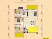 蓝宝湾B户型3室2厅2卫2阳台102.44㎡