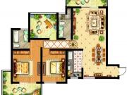 祥安东城国际花园户型3室2厅2卫2阳台118.6㎡