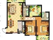 祥安东城国际花园户型3室2厅2卫2阳台116.6㎡