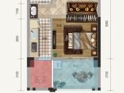 金色礼赞1-C户型1室1厅1卫1阳台41.74㎡