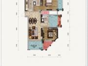 金色礼赞1-E户型2室2厅2卫1阳台108.14㎡