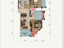 金色礼赞1-E户型2室2厅2卫1阳台 108.14㎡