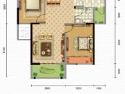 凯旋·煌境B户型2室2厅1卫2阳台85㎡