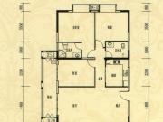 中岳华庭4-1户型3室2厅2卫1阳台133.98㎡