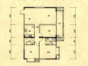 中岳华庭4-4户型3室2厅2卫1阳台131.35㎡