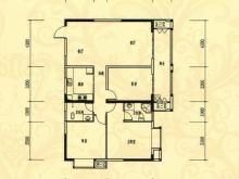 中岳华庭4-4户型3室2厅2卫1阳台 131.35㎡