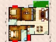 民生国际B1C4户型3室2厅1卫1阳台118.22㎡