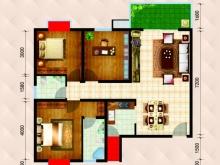 民生国际B1C4户型3室2厅1卫1阳台 118.22㎡