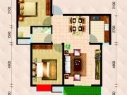 民生国际A2A3户型2室2厅1卫1阳台84.73㎡