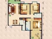 民生国际B4C1户型3室2厅138.9㎡