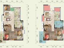 泰山绿谷A户型4室2厅2卫2阳台 125.13㎡