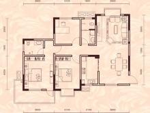 祥安东城国际花园玫瑰苑A户型3室2厅2卫1阳台 116.18㎡
