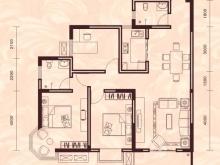 祥安东城国际花园玫瑰苑B户型3室2厅2卫1阳台 109.78㎡