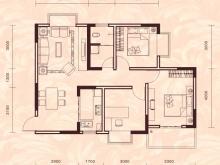 祥安东城国际花园玫瑰苑A1户型3室2厅1卫1阳台 90.75㎡
