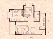 祥安东城国际花园玫瑰苑A户型2室2厅1卫1阳台 80.31㎡