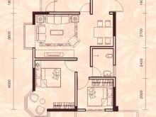祥安东城国际花园玫瑰苑B户型2室2厅1卫1阳台 76.44㎡