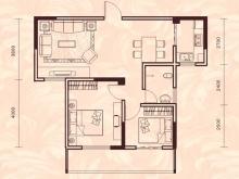 祥安东城国际花园玫瑰苑C户型2室2厅1卫1阳台 79.05㎡