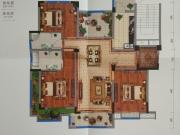 藏珑墅院E1户型3室2厅2卫5阳台119.96㎡