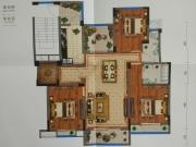 藏珑墅院E2户型3室2厅2卫5阳台125.40㎡