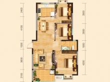 兴丽城C3户型3室2厅1卫1阳台 115.52㎡