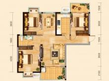 兴丽城C7户型3室2厅1卫2阳台 117.81㎡