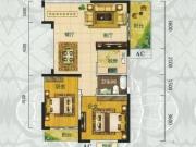 翰林世家禧园I户型2室2厅1卫2阳台86.66㎡