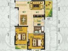 翰林世家禧园I户型2室2厅1卫2阳台 86.66㎡
