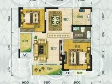 翰林世家禧园H户型2室2厅1卫2阳台 88.49㎡