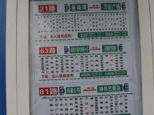 万达广场公交站牌