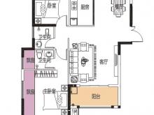 公元海9-2-3户型2室2厅2卫 107.79㎡