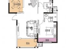 公元海9-2-1户型2室2厅2卫1阳台 107.36㎡