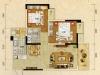 A户型2室2厅1卫2阳台 83.54㎡