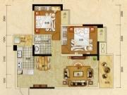 阳光栖谷A户型2室2厅1卫2阳台83.54㎡