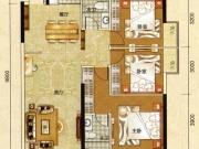 阳光栖谷B户型3室2厅2卫2阳台122.04㎡