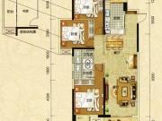 阳光栖谷D户型3室2厅2卫2阳台125.25㎡