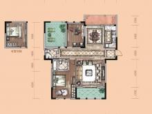 卢浮宫B1户型3室2厅2卫2阳台 130.18㎡